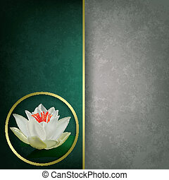 abstract grunge background with lotus