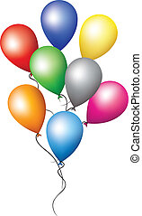 Balloons for holiday decoration