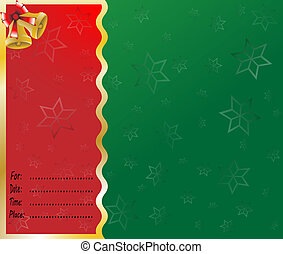 merry christmas card lettering vector illustration...