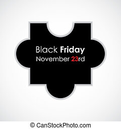 special puzzle vector illustration with black friday text