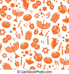hanukkah pattern - seamless pattern with Hanukkah symbols