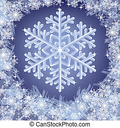 christmas frozen background with snowflakes. Vector...