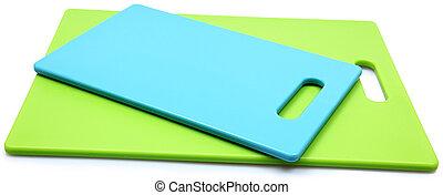 blauwe, raad, silicone, op, holle weg, groene, witte, stapel...
