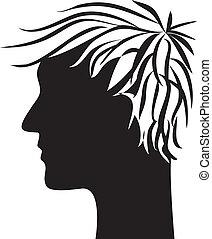 man head profile silhouette