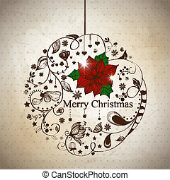 Xmas ball - Vector xmas reeting card with abstract ball