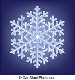 icy snowflake - Vector illustratiob of icy snowflake