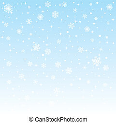 christmas frozen background with snowflakes Vector...