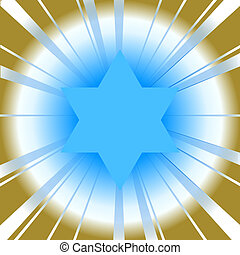 background with star of david