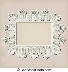 crochet doily on grunde background
