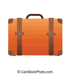 Vintage suitcase - Vector illustration of vintage suitcase...