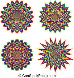 Optical illusion - Hypnotic optical illusion - vector