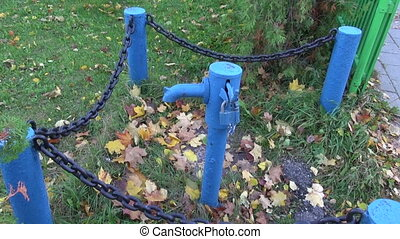 old drinking water water-pump - historical drinking water...