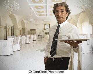 Waiter in a luxury restaurant