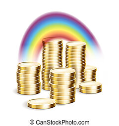 Rainbow over money - Rainbow over the money Vector