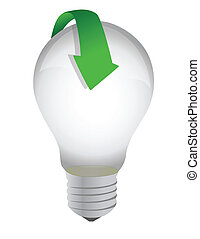 lightbulb arrow illustration