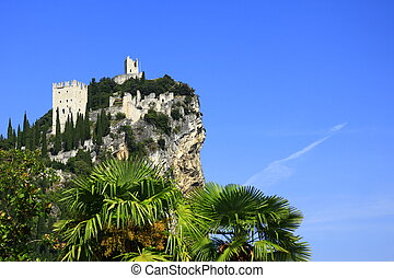 castle ruin of Arco - The castle ruin of Arco, on a steep...