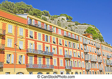 Buildings in Nice, south of France