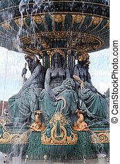 fontaine, rivière, commerce, navigation, Concorde,...