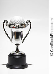Golf Trophy - A close-up image of a golf trophy