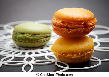 Macaroons - Fresh homemade macaroons in three beautiful...