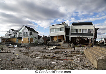 Hurricane Sandy desrtruction - FAR ROCKAWAY, NY - NOVEMBER...