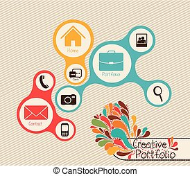 Creative portfolio - Illustration of creative portfolio....