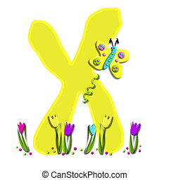 Alphabet Spring has Sprung X - X, in the alphabet set Spring...