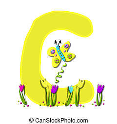 Alphabet Spring has Sprung C - C, in the alphabet set Spring...
