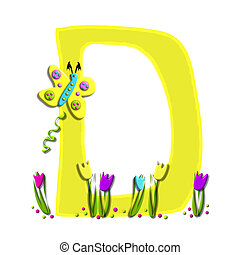Alphabet Spring has Sprung D - D, in the alphabet set Spring...