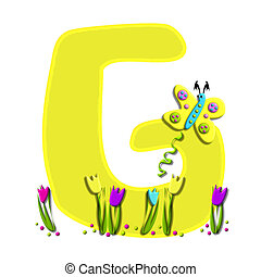Alphabet Spring has Sprung G - G, in the alphabet set Spring...