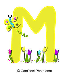 Alphabet Spring has Sprung M - M, in the alphabet set Spring...
