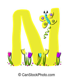 Alphabet Spring has Sprung N - N, in the alphabet set Spring...