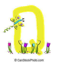 Alphabet Spring has Sprung Q - Q, in the alphabet set Spring...