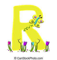 Alphabet Spring has Sprung R - R, in the alphabet set Spring...
