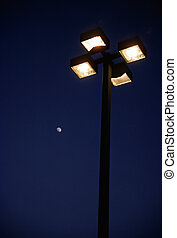 Street Light with Moon