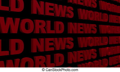 World News Looping Text Angle Two