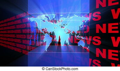 World News Light Rays Looping Animated Background