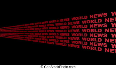 World News Looping Text Angle Five Left to Right Centered...