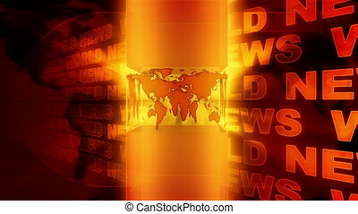World News Background Red Orange
