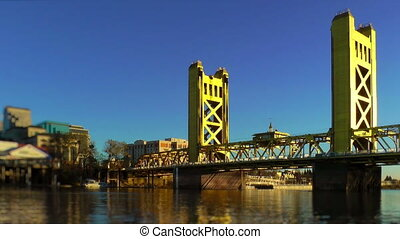 Tower Bridge over Sacramento River, Sacramento, California