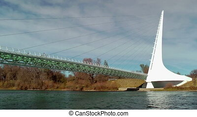 Sundial Bridge over Sacramento Rive