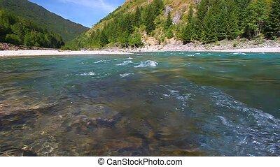 Flathead River Rapids Montana - Middle Fork Flathead River...