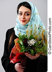 Middle eastern woman portrait - Arabic woman