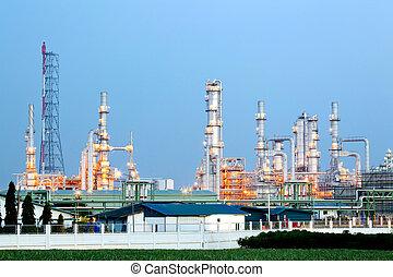 aceite, refinería, planta