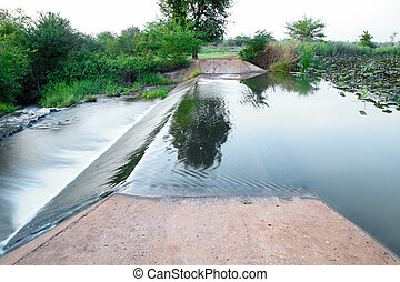small dam in country side