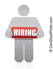 icon with a hiring sign