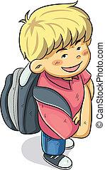Boy Go to School