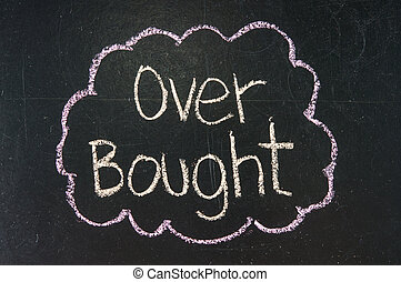 OVER BOUGHT - Stock Exchange word OVER BOUGHT made with...