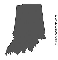 Map of Indiana - USA - nonshaded