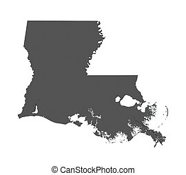 Map of Louisiana - USA - nonshaded